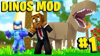A New Beginning In Dino Land - Minecraft Jurassicraft Dinos Modpack Episode #1 | JeromeASF