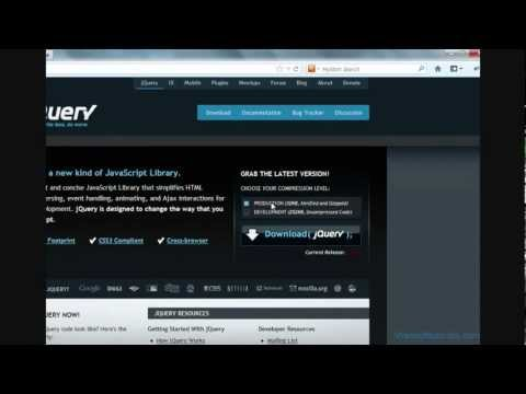 Download jquery file and using jquery in html
