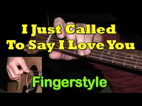"""I Just Called To Say I Love You"" - Fingerstyle Guitar Cover + TAB By GuitarNick"