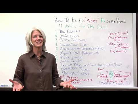 How to be the Worst Project Manager Video
