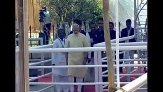 Narendra Modi Visits Diksha Bhoomi Nagpur