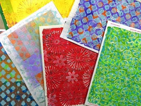 Gelli® Printing Basics - Part 1 of 2