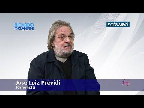 Ricardo Orlandini conta com a participação do jornalista há 40 anos e escritor com 12 livros publicados, José Luiz Prévidi.