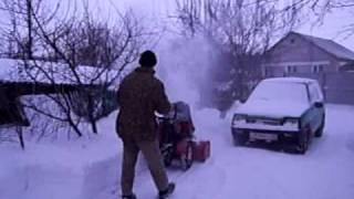Самодельный снегоуборщик к мотоблоку