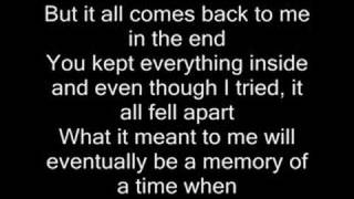 In the end - Linkin Park (with lyrics)