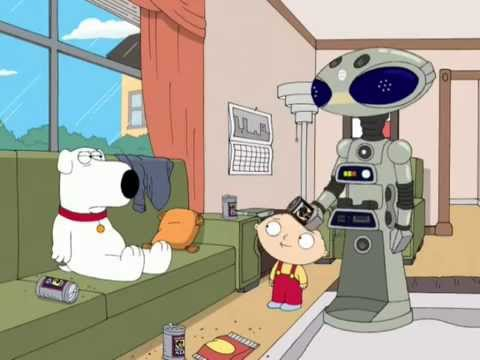 Family Guy 6x02 Movin Out Brian Song Робот из Рокки