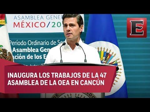 América debe enfrentar desafíos apegada a valores, afirma Peña Nieto