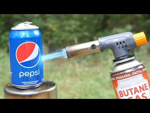 PEPSI VS GAS TORCH (видео)