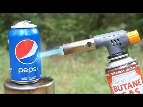 這男子用「超高溫瓦斯槍」不斷燃燒百事可樂時所有人都不知道會變成怎樣,但一看到罐子的外觀每個人都忍不住喊「這太狂了」!