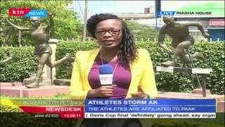 Athletes Stage A Sit In At Athletics Kenya Offices For The Second Day Running