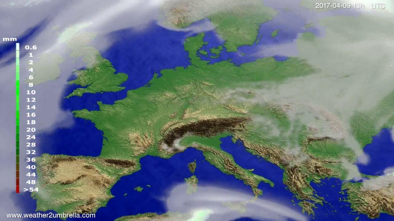 Precipitation forecast Europe 2017-04-06