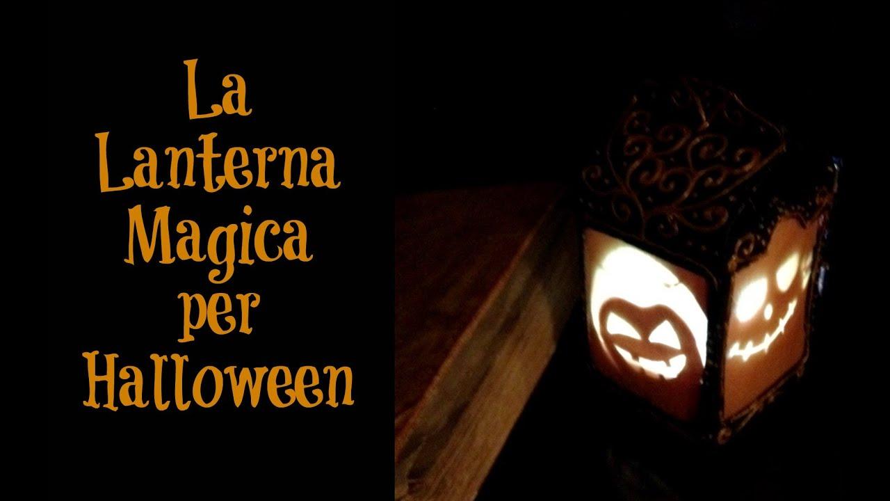 Lanterna Magica di Halloween fatta con cartone di latte ★ RICICLO CREATIVO
