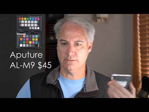 Aputure Amaran AL-M9 Tiny LED Light Test