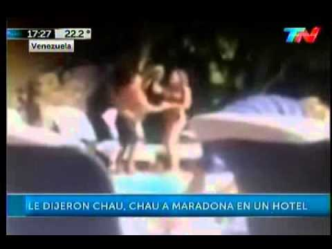 Maradona and his girlfriend was kicked out of hotel because of dirty dancing