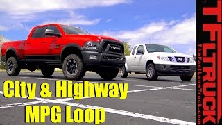 2017 Ram Power Wagon and Nissan Frontier City & Highway MPG Review