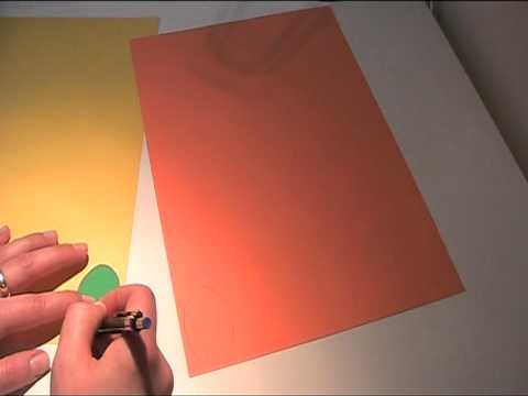 Osterkranz aus Bastelpapier basteln Teil 1 - Video