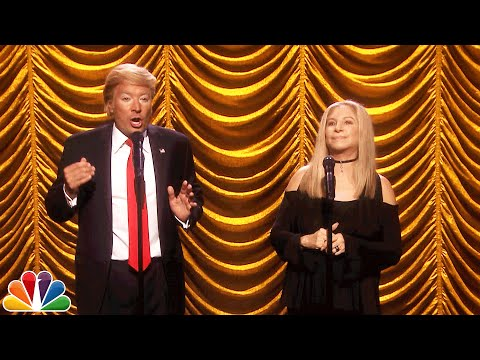 Barbra Streisand Sings a Duet with Donald Trump