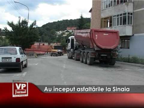Au început asfaltările la Sinaia