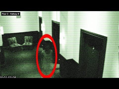 Ghost in Hotel on Halloween – Caught of Security Camera 100% Real – Found Video #12