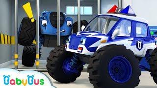 Video Monster Police Car Song | Police Cartoon | Nursery Rhymes | Kids Songs | Color Song | BabyBus MP3, 3GP, MP4, WEBM, AVI, FLV Februari 2019