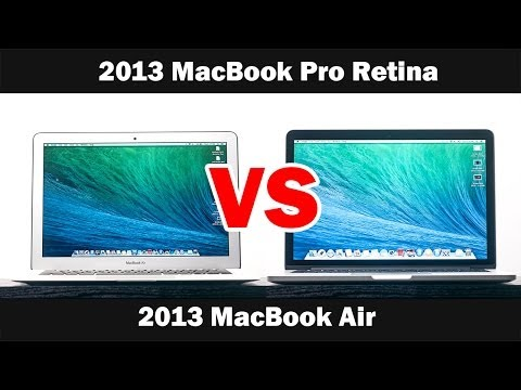 macbook air - Here is Our the 2013 Macbook pro with Retina display vs the 2013 Mac Book. Follow me on Twitter http://bit.ly/PKP8jD Add me on Google + http://bit.ly/UqhSmp ...