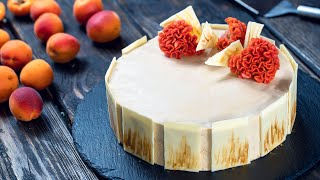 Apricot and Caramelized White Chocolate Mousse Cake