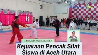 Seratusan Pelajar Aceh Utara Ikut Kejuaraan Pencak Silat, Jawara Dipersiapkan Untuk Popda 2020