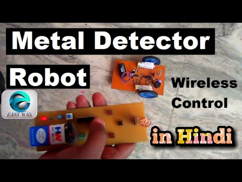 Metal detector robot- Wireless RF base control, Demonstration