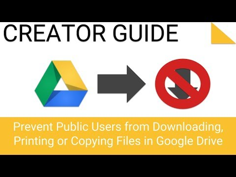 Prevent Public Users from Downloading, Printing or Copying Files in Google Drive