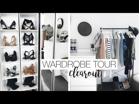 Wardrobe Tour & Organisation - Wardrobe Clear Out (видео)