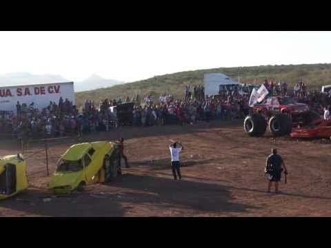 Accidente Monster Truck  Aero Show Chihuahua 2013 Mexico