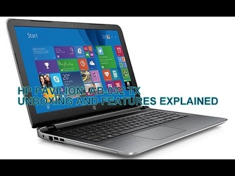 HP ab032TX pavilion notebook unboxing.....