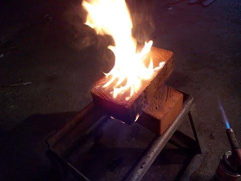 Как сделать горящий кирпич