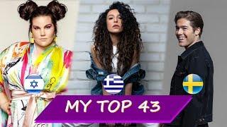 Video Eurovision 2018 - My final top 43  Gianna Terzi, Eleni Foureira, Netta, Benjamin Ingrosso, Mélovin MP3, 3GP, MP4, WEBM, AVI, FLV Maret 2018