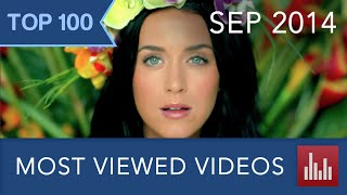 A countdown of YouTube's 100 most viewed videos of all time as of September 1, 2014. ▪ Updated version ► http://youtu.be/351S5ewsLqI ▪ 88 official music vide...