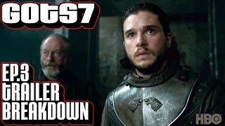 Game of Thrones season 7 episode 3 official teaser trailer breakdown. Frame by frame look at the new GoT s7 e3 trailer. Please ...