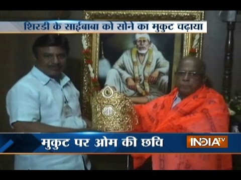 Devotee donates gold crown to Shirdi Sai Baba temple
