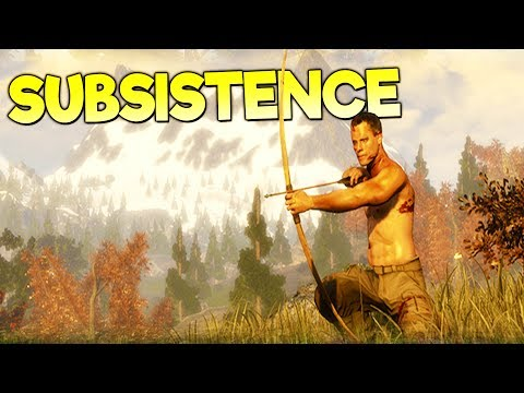 SURVIVOR LEARNS BOW HUNTING TO AVOID STARVATION! - Subsistence Gameplay Early Access Part 2