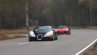 Bugatti Veyron vs. Ferrari F430 JDC - Racing at Closed track! 240+ KM/H