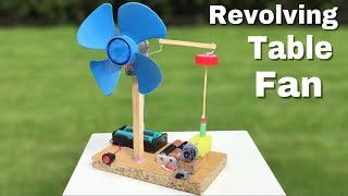 Video How to Make a Mini Revolving Table Fan at Home - Easy to Build - Amazing idea MP3, 3GP, MP4, WEBM, AVI, FLV Mei 2019