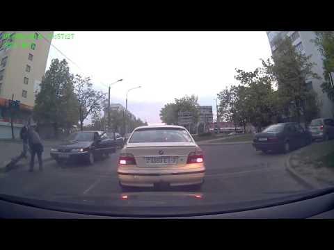 Авария с велосипедистом в Минске