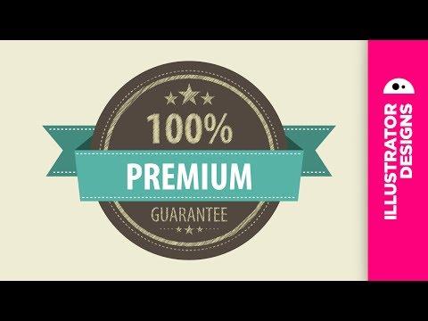 Adobe Illustrator // design a vintage label