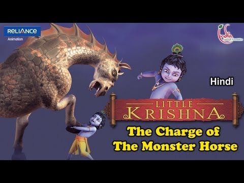 Little Krishna Hindi - Episode 10 The Charge Of The Monster Horse