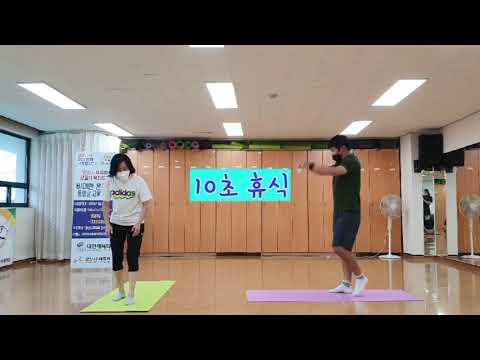 8월 비대면 체육지도영상 - 유산소 타바타 2탄 (김기웅, 하수정 지도자)