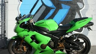 1. 2006 Kawasaki Ninja ZX6RR Motorcycle For Sale