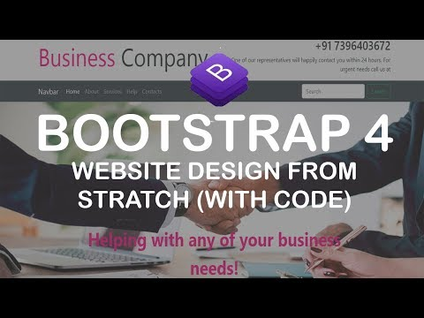 Bootstrap 4 Website Designing  From Scratch
