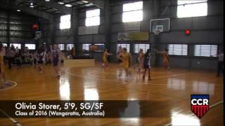 Wangaratta Australia  City pictures : Olivia Storer, 5'9, SG/SF, Class of 2016 (Wangaratta, Australia)