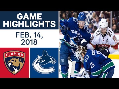 Video: NHL Game Highlights | Panthers vs. Canucks - Feb. 14, - 2018