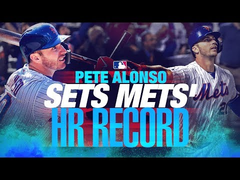 Video: Alonso sets Mets' HR record!