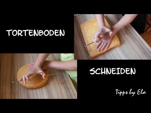 selbst gemachten Tortenboden schneiden - Wiener Boden TippsbyEla